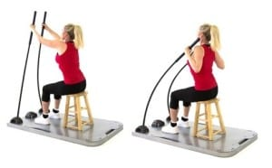 SEATED LAT PULL DOWN WITH SCAPULAR STABILIZATION